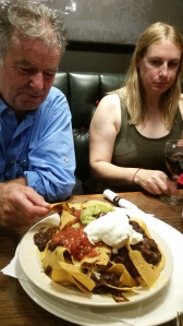 Relaxing with a night out. Are those really Nachos?