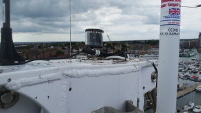 Top of the mast electronics.