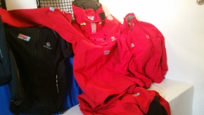 Clipper foulies, Red jacket, Black jacket, and yesterday we received a red polo shirt. Just like Christmas.