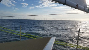 Windmills in the middle of the sea. Hmmm, you can tell they are not Texans.