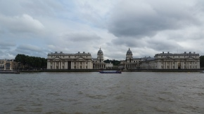 Passing Royal Naval Academy. Over the hill is Greenwich time.