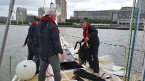 Getting lines out for St. Katherine's Docks