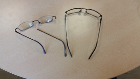 Two pairs of prescription glasses down and 2 to go. One down during level 4 and one down during Prep week. Both not fixable.