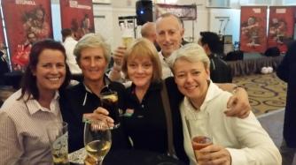 crew mates Judith, Regina, Nigel
