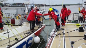 Sir Robin wishing our Skipper Diane and us a safe and good journey.
