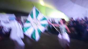 Yes the picture is blurry, but the flag was moving too fast to catch a pose.