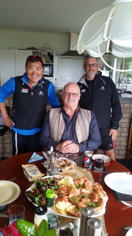 Han, Robert and David and the awesome lunch that Robert prepared for us!!