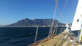 Land Ho! Cape Town and Tabletop Mountain in sight!!!