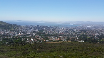 View from Table Mountain while waiting for the cable car which was shut down due to high wind, Will be back to reach the top.