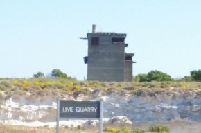 Quarry with old WWII fortress