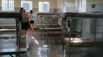 One of the less confined cell areas for prisoners who were less political.