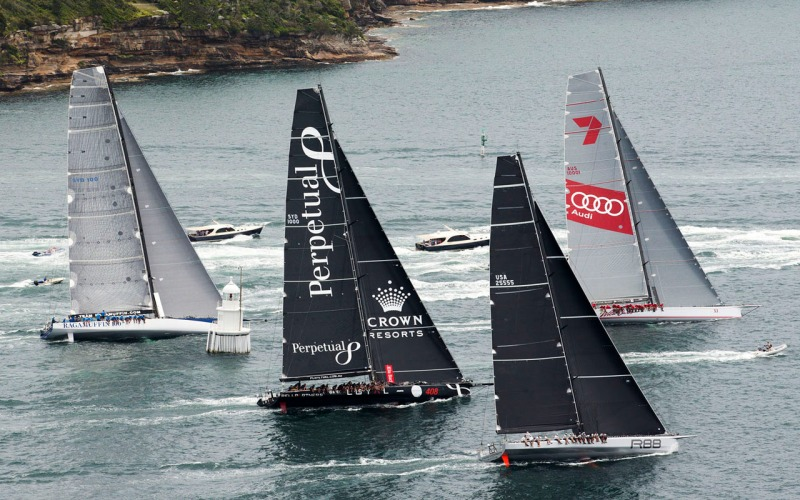 The fleet racing during the SOLAS Big Boat Challenge 2015 - Sydney 15/12/2015 ph. Andrea Francolini