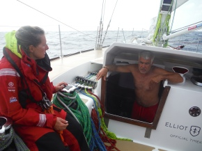 Immre, our Hungarian/Canadian crew member that had a major shoulder injury