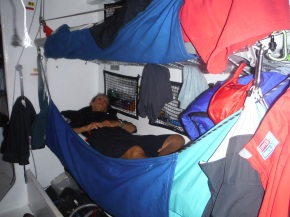 my bunk with clothes hanging and it was one of the few that was not obliterated with wet clothing.