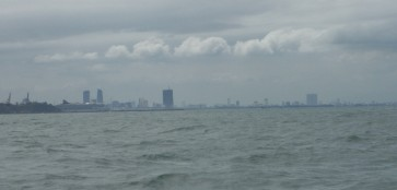 DaNang in the distance
