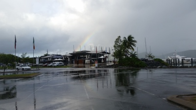 Rainbow at Airlie Beach to start the day