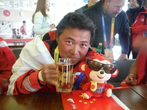 Han with monkey each of us received