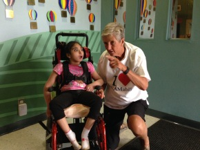 Linda and friend Sarah at TEAMability