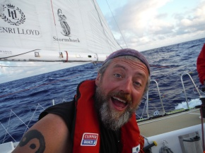 Crew mate Sean likes to get his picture taken. He is closest person to a pirate that we have on board.