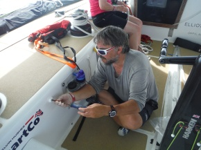 Craig repairing much needed line holders.